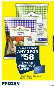 Nature's Garden Frozen Mixed Vegetables 2 offer at R 58