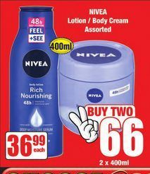 Nivea Body Lotion 2 offer at R 66
