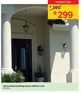 Building materials offer at R 299