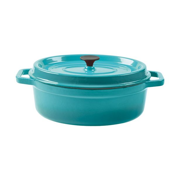 Malabar 2pc Oval Cast Iron Roaster with Lid offers at R 699