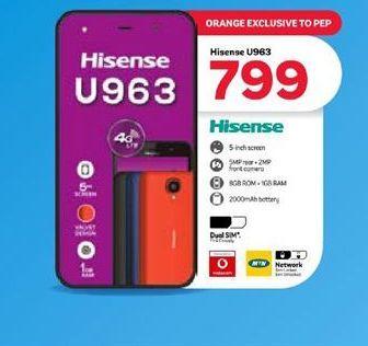 Hisense U963 Smartphone offer at R 799