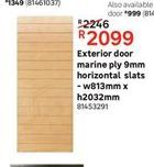 Exterior doors offer at R 2099