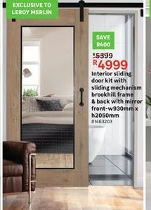 Interior sliding doors kit offer at R 4999