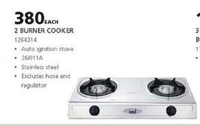 Gas cooker offer at R 380