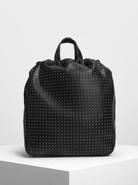 Micro Stud Drawstring Backpack offer at R 39