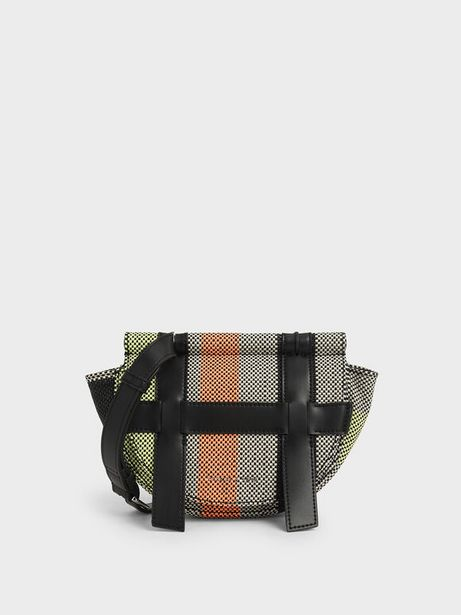 Small Caged Jacquard Crossbody Bag offer at R 26