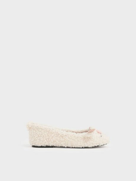 Girls' Nellie The Lamb Furry Ballerina Flats offers at R 23