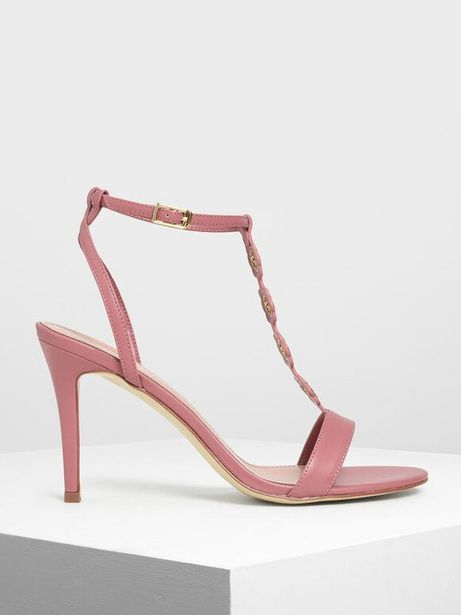 Floral Eyelet Heeled Sandals offers at R 29