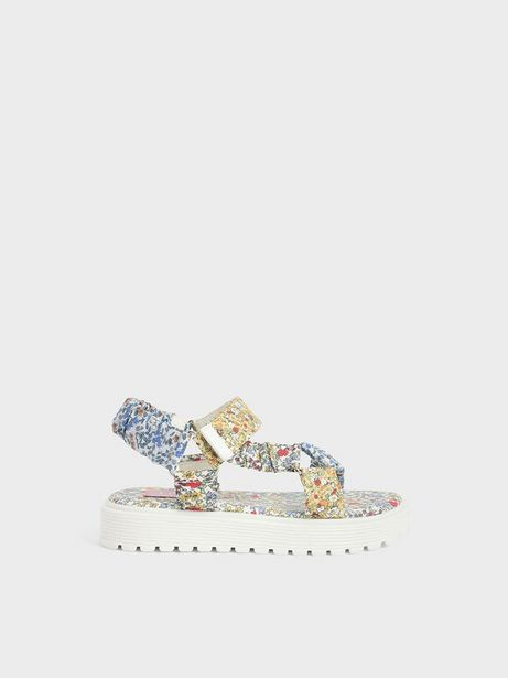 Girls' Printed Satin Sport Sandals offers at R 39