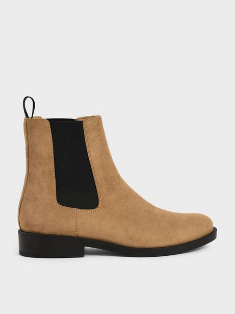 Textured Round Toe Chelsea Boots offers at R 66