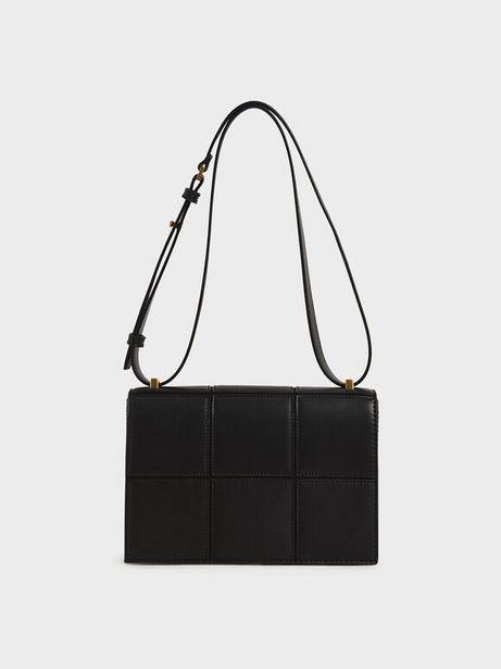 Textured Panelled Shoulder Bag offers at R 46