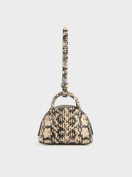 Snake Print Mini Dome Pouch offers at R 26