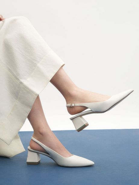 Metallic Accent Slingback Court Shoes offers at R 49
