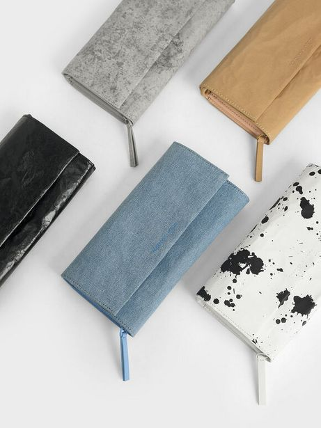 Textured Front Flap Long Wallet offers at R 29