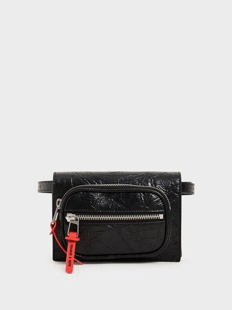 Wrinkled Effect Mini Rectangle Crossbody Bag offer at R 26