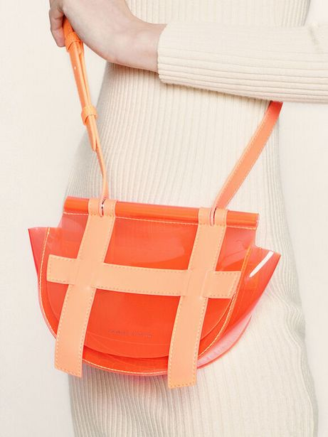 Small Caged See-Through Effect Crossbody Bag offer at R 26