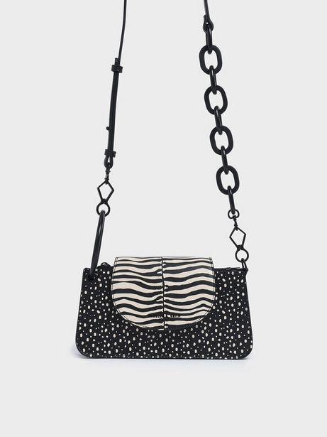 Zebra Print Ring Handle Mini Front Flap Wallet offers at R 29