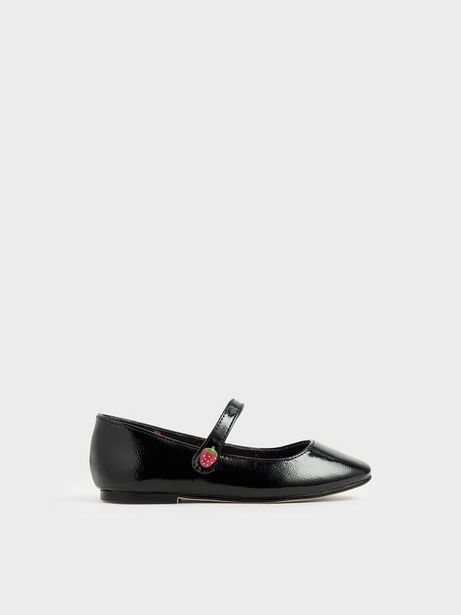 Girls' Strawberry Wrinkled Patent Mary Jane Flats offers at R 23