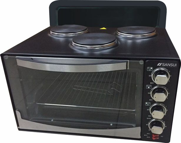 Sansui 45LT 3 Plate Mini Oven, Black SATCO-2033A offers at R 1799