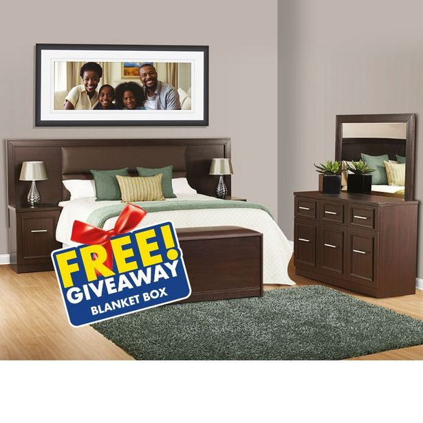 Belmont 3 Piece Bedroom Suite, Dark Brown offers at R 5499