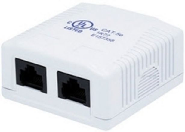 RJ45 Dual Surface Mount Box Cat5e offers at R 74