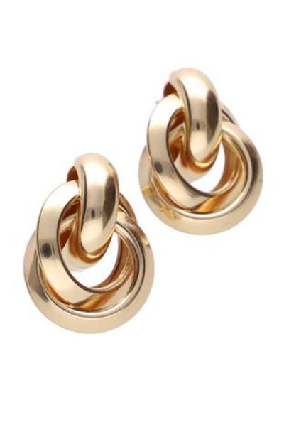 Alma Knot Statement Earrings offer at R 30