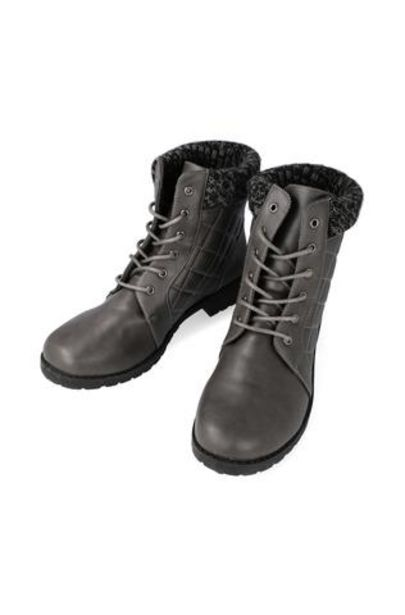 Dawson Knit Collar Lace Up Boot offer at R 270