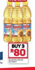 Sunfoil Sunflower Oil 3 offer at R 80