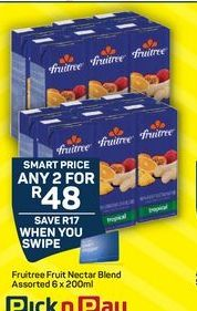 Fruitree Fruit juice  offer at R 48