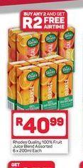 Rhodes Fruit juice offer at R 40,99
