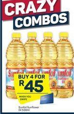Sunfoil Sunflower Oil 4 offer at R 45