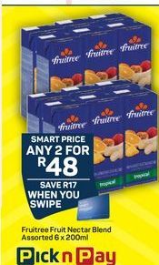 Fruitree Fruit juice 2 offer at R 48