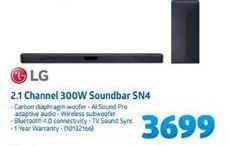 LG 2.1 Channel 300W Soundbar SN4 offer at R 3699