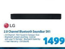 LG 2.0 Channel Bluetooth Soundbar SK1 offer at R 1499