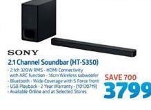 Sony 2.1 Channel Soundbar offer at R 3799