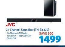 JVC 2.1 Channel Soundbar offer at R 1499
