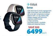 Fitbit Sense offer at R 6499