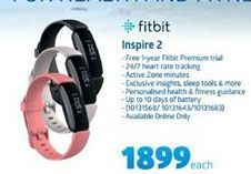 Fitbit Inspire 2 offer at R 1899