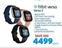 Fitbit Versa 3 offer at R 4499
