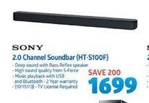 Sony 2.0 Channel Soundbar offer at R 1699