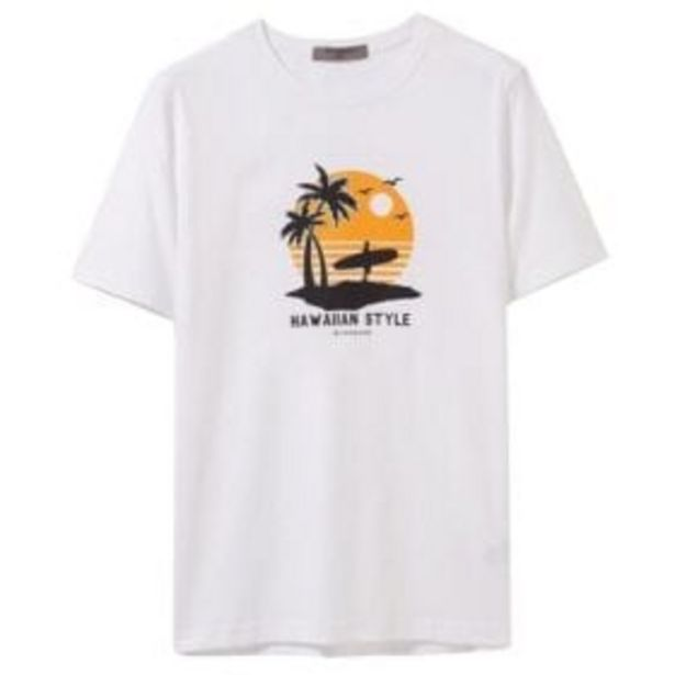 1089002 CTN CREW PRINTED T-SHIRT offers at R 249