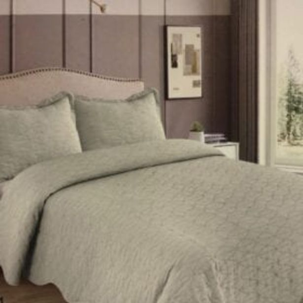 3PC VIC QUILT SET 235x235CM GREEN TEA offer at R 449