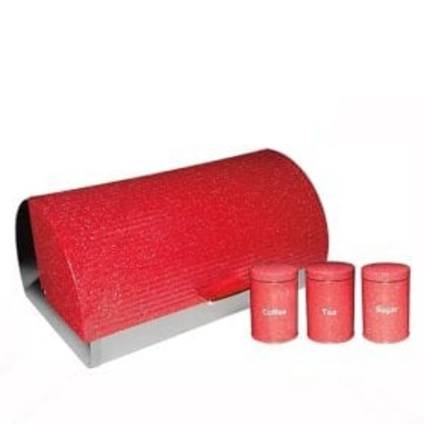 DOTTED BREAD BIN RED offers at R 499