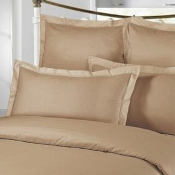 300TC PLAIN PILLOW CASE STONE offer at R 229