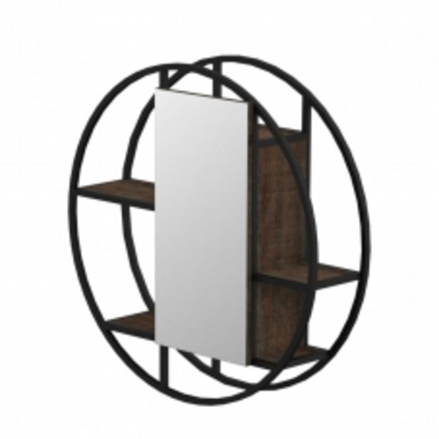 FERRO 800 ROUND WALL MIRROR UNIT- MATT BLACK STEEL & NAPOCA offers at R 2695