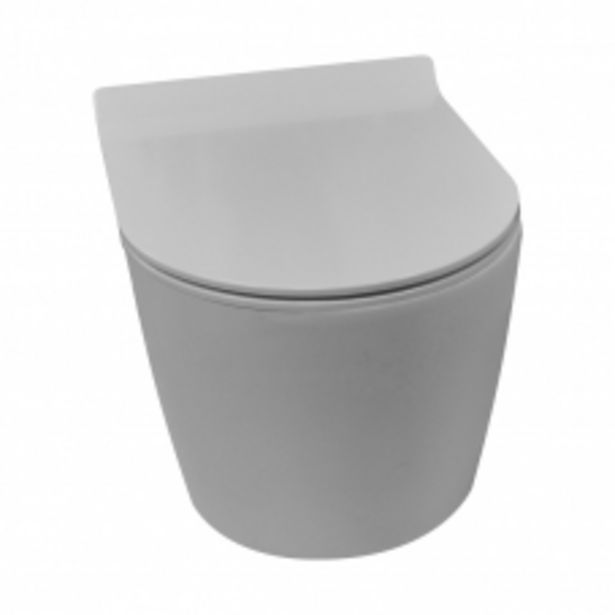 TOILET WALL HUNG PALI III RIMLESS PAN + SEAT WHITE DIDI offers at R 2695