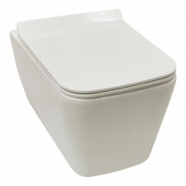 TOILET WALL HUNG JACOB II RIMLESS PAN + SEAT WHITE DIDI offers at R 2795