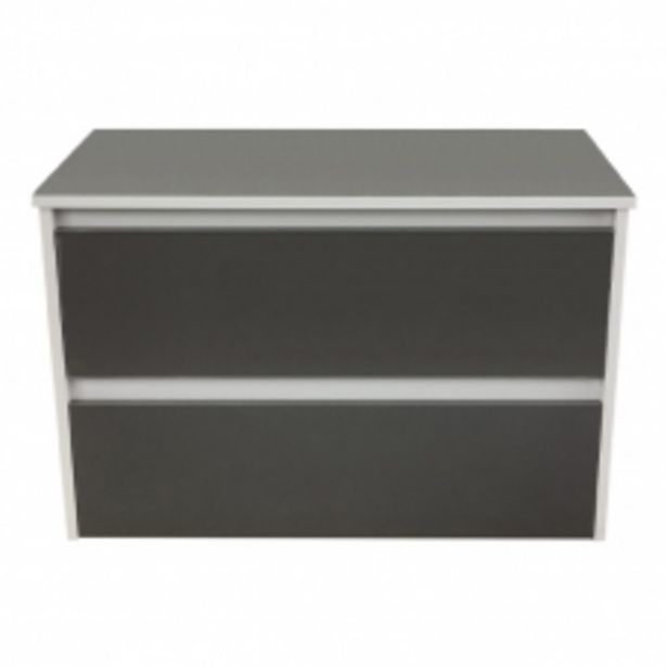 IRIS 820 W/HUNG 2 DRAW UNIT, SOLID TOP - HGW & S/GLOSS GREY offers at R 4495