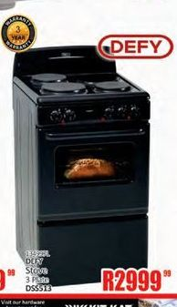 Defy Stove offer at R 2999,99