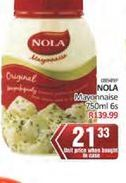 Nola Mayonnaise offer at R 21,33